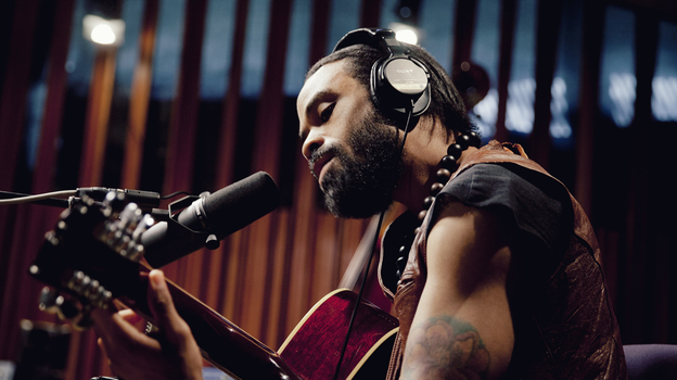 Bilal performs for us on KCRW's Morning Becomes Eclectic. (KCRW)