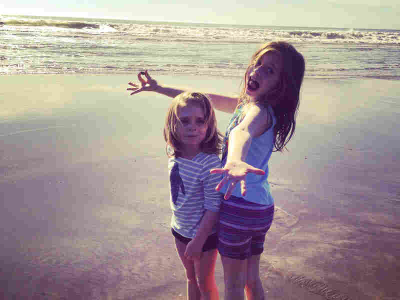 Sisters Jackie Carter Christian (left) and Chloe Marie Christian at the beach.