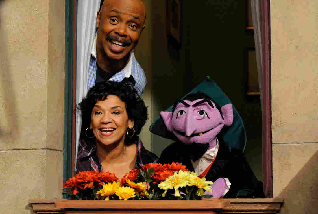 Gordon (played by Roscoe Orman), Maria (played by Sonia Manzano), and The Count on Sesame Street's 42nd season. Manzano is closing out a Sesame Street career that began in 1971.