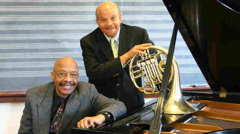 Dwike Mitchell (left), pictured with longtime collaborator Willie Ruff.