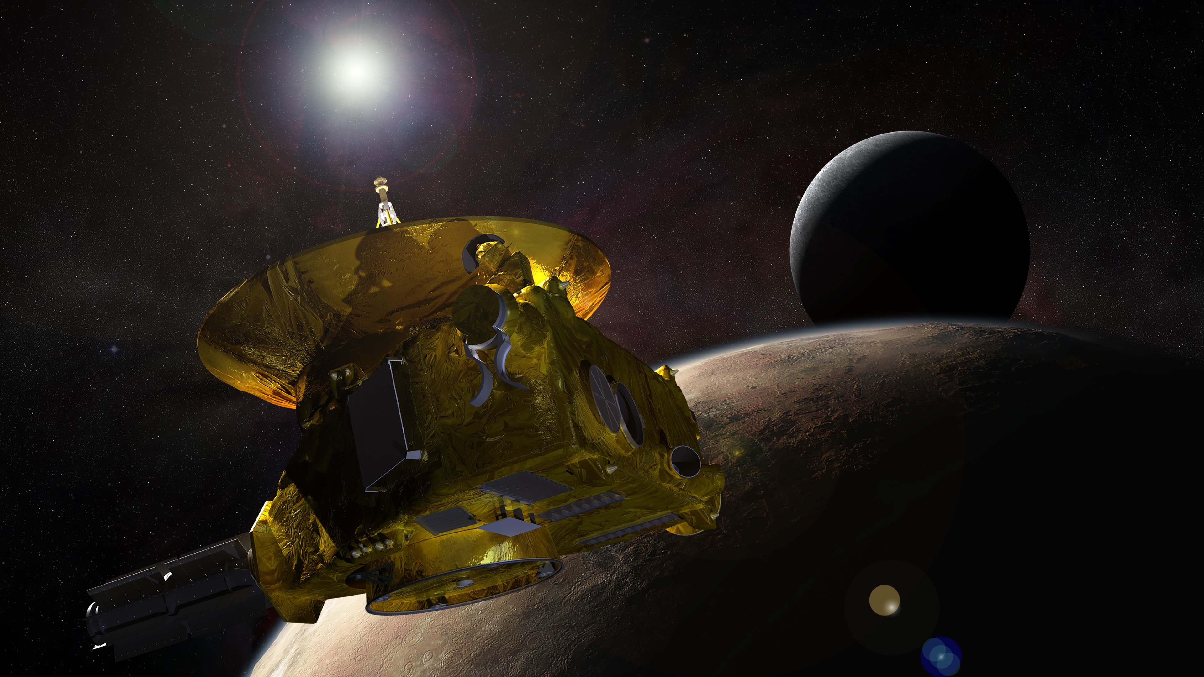 Pluto-Bound Spacecraft Nears Its Quarry
