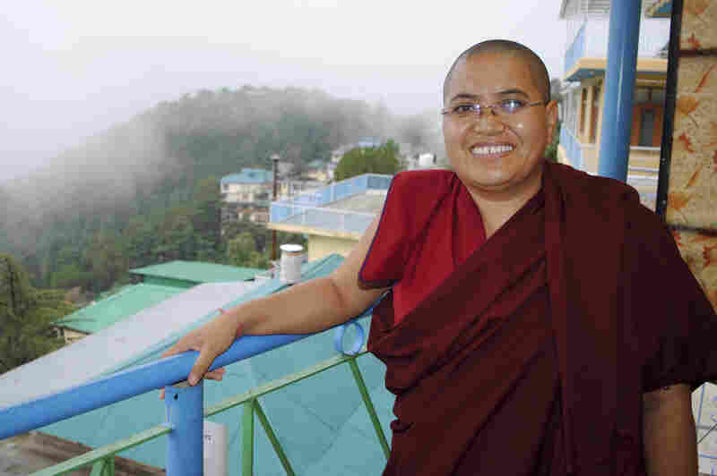 Tenzin Lhadron, a Tibetan Buddhist nun in Dharamsala, India, says the Dalai Lama paved the way for nuns to pursue higher studies.
