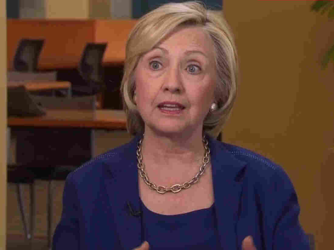 Hillary Clinton spoke to CNN Tuesday.