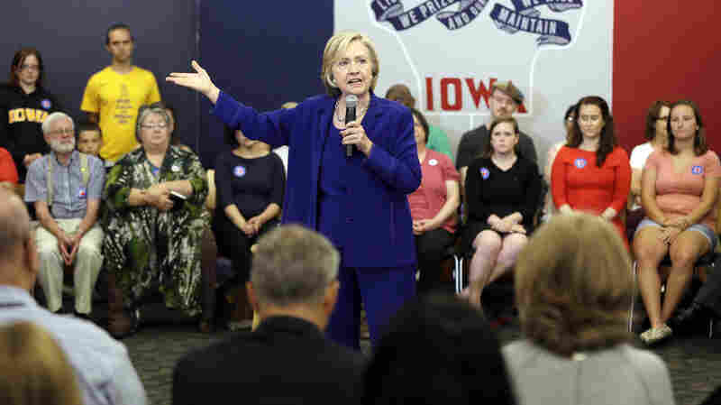 Clinton says she has learned from her 2008 loss and is placing a heavy emphasis on organizing in early states, like Iowa.
