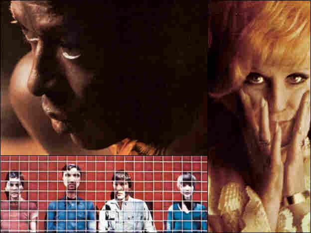 Clockwise from upper left: Miles Davis, Dusty Springfield, Talking Heads.