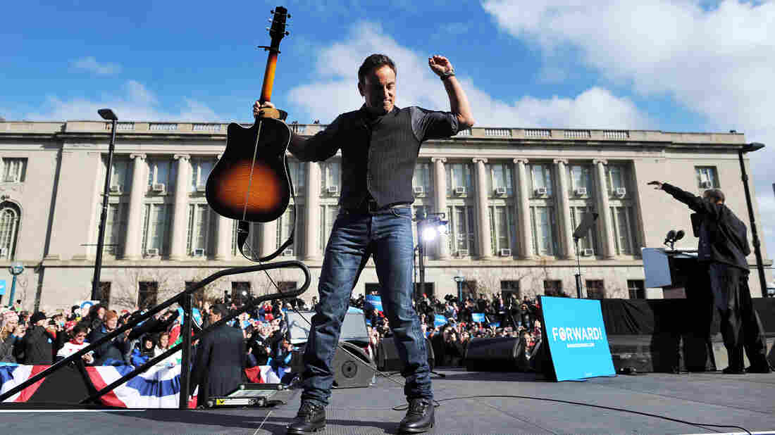 """Bruce Springsteen has complained that his song """"Born in the USA"""" has been played or quoted by Bob Dole, Pat Buchanan and Ronald Reagan. Springsteen performed at campaign events for Barack Obama in 2008 and 2012."""