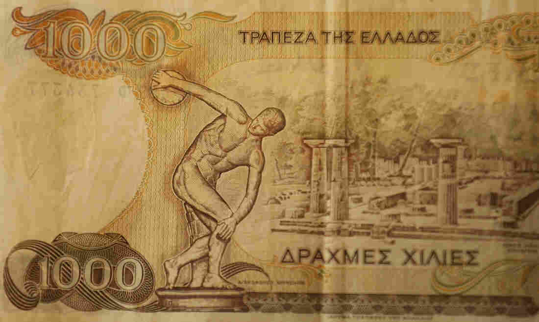 The drachma was Greece's currency before it joined the eurozone in 2001. There's now talk that Greece could leave the euro and return to its old currency, though economists say the transition would be difficult and the drachma would likely be extremely weak.
