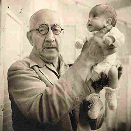 Dr. Martin Couney holds Beth Allen, one of his incubator babies, at Luna Park in Coney Island. This photo was taken in 1941.