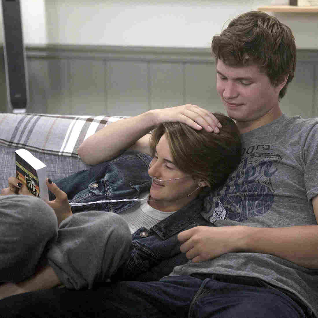 In the movie The Fault in Our Stars, having terminal cancer doesn't look so bad for Hazel, played by Shailene Woodley, and Gus, played by Ansel Elgort.