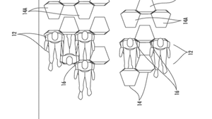 To take better advantage of space on an airplane, this patent arranges passengers in a hexagonal pattern.