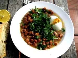 Suhoor tables sometimes feature a dish of stewed fava beans called ful medames.