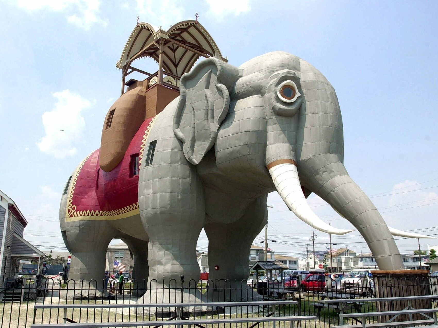 Lucy the Elephant has weathered a few storms in her home on the New Jersey shore. Many believe she is the oldest roadside attraction in America.