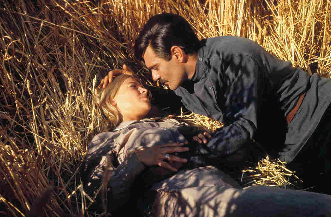NPR's Eleanor Beardsley saw Doctor Zhivago at age 14 and was instantly smitten with Omar Sharif, shown here in a scene from the film with Julie Christie.