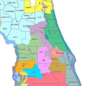 Florida Congressional District Map.It S Back To The Drawing Board For Florida S District Maps It S