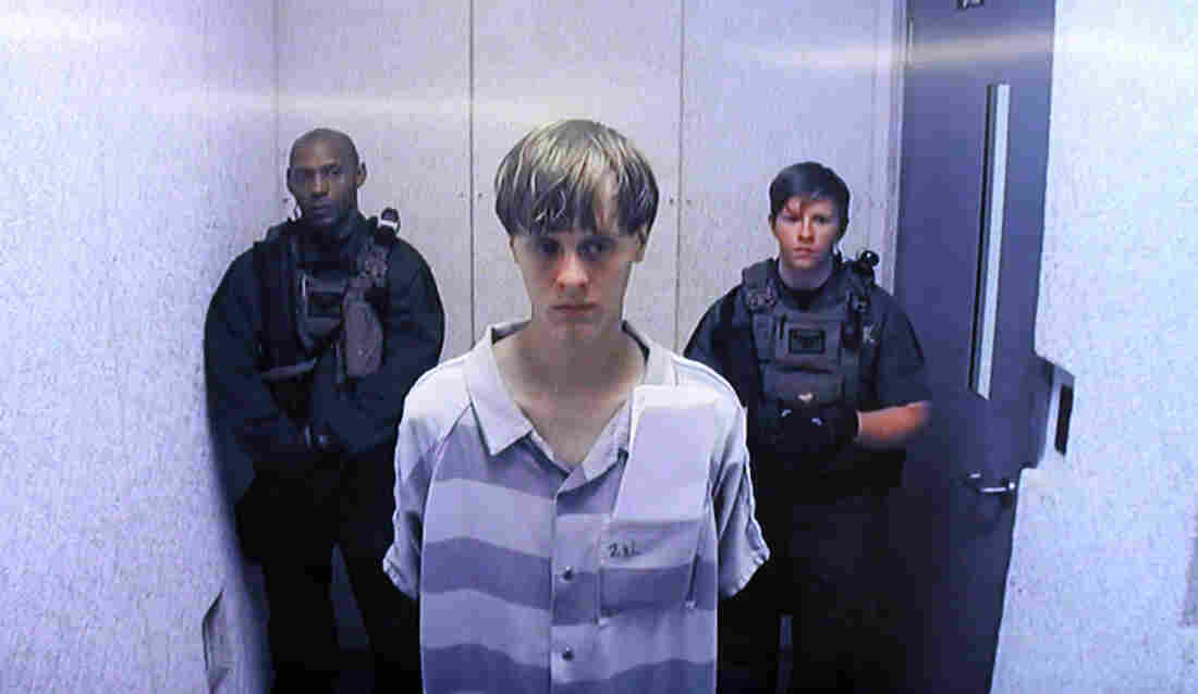 Dylann Roof appears via video at his bond hearing on June 19 in North Charleston, S.C. Roof is charged with nine counts of murder and firearms charges in the shooting deaths at Emanuel African Methodist Episcopal Church.