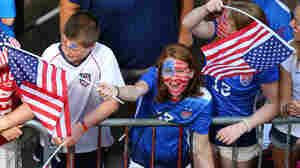 Well ahead of the ticker-tape parade's 11 a.m. start time, young fans were already in place along the route to celebrate the U.S. women's World Cup victory.