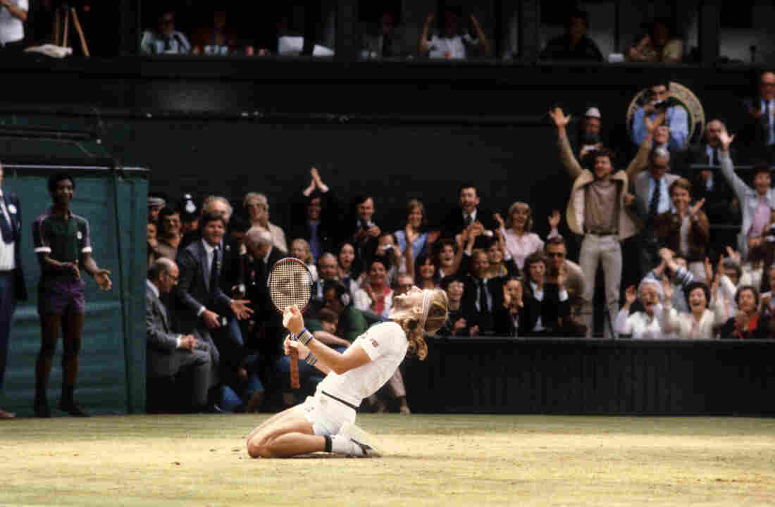"Photographer Walter Iooss captured Björn Borg's celebration after winning the match at Wimbledon in 1980. ""You see a match like that maybe once in your life,"" Iooss says. ""I was lucky to be there."""