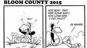 Idle for more than 25 years, the comic strip Bloom County returned to life Monday.