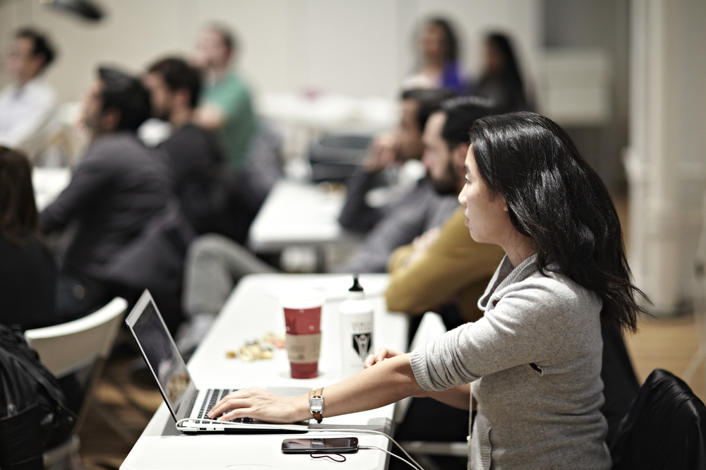 Students learning to code at General Assembly in New York City.