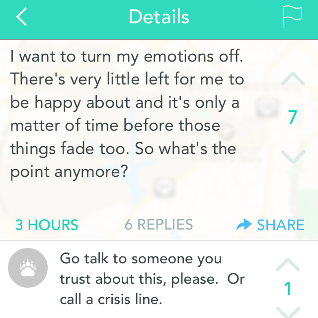 On College Campuses, Suicide Intervention Via Anonymous App