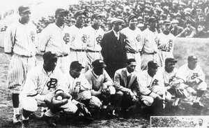 On April 20, 1927, Goodwin's Philadelphia Royal Giants and Zenimura's Fresno Athletic Club met head-to-head in the newly constructed Meiji Shrine Stadium in Tokyo.