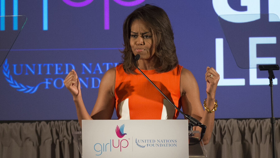 Michelle Obama Is A Rock Star For Global Teen Activists : Goats ...