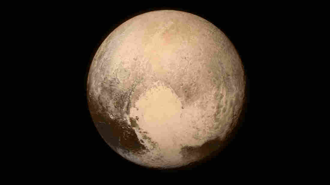 The last image of Pluto taken by New Horizons.