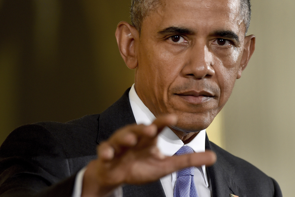President Obama answers questions about the nuclear deal with Iran on Wednesday at a news conference in Washington. (Susan Walsh/AP)