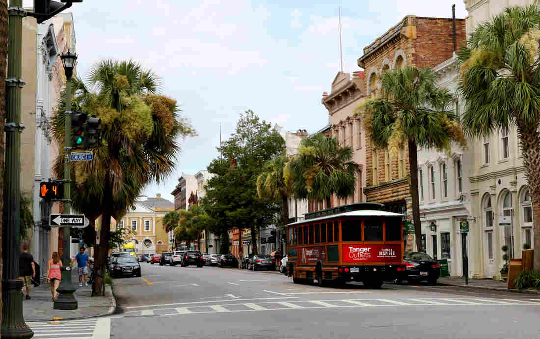 The architecture of downtown Charleston, S.C., is modeled after its sister colony, Bridgetown, Barbados. Many of Charleston's first settlers were white voyagers and black slaves from the island.