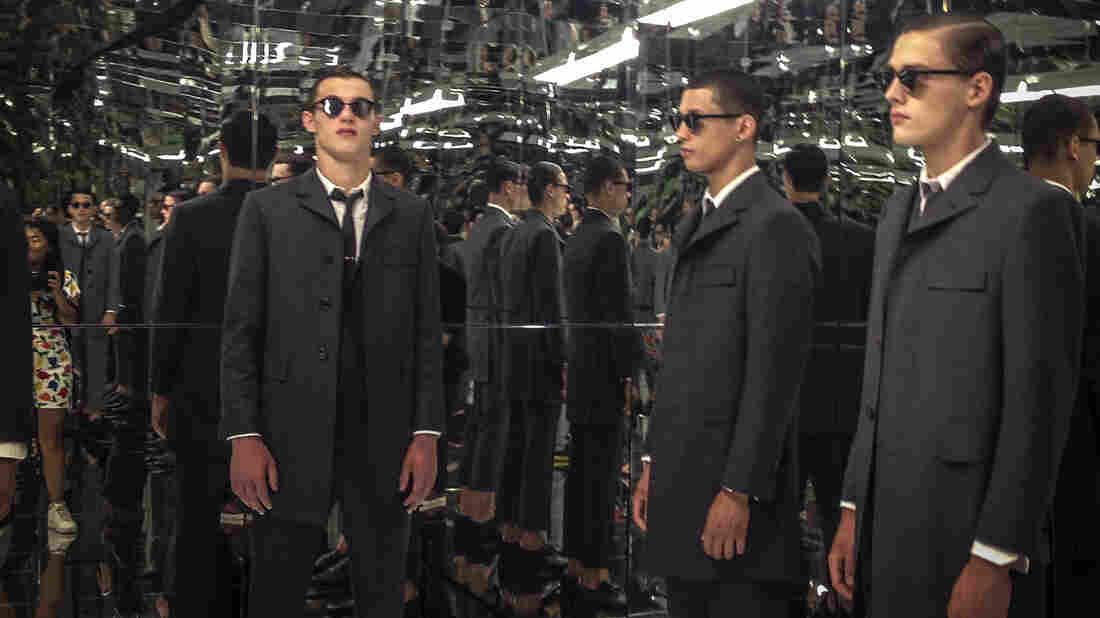 Designer Thom Browne says he usually shows his men's collections in Paris, but he felt it was important to support the first Fashion Week for men in New York.