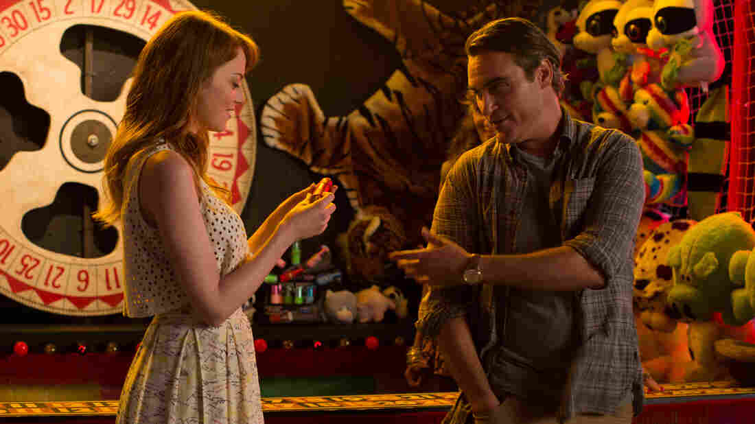 Irrational Man is a Hitchcock-style mystery wrapped in a Woody Allen romance.
