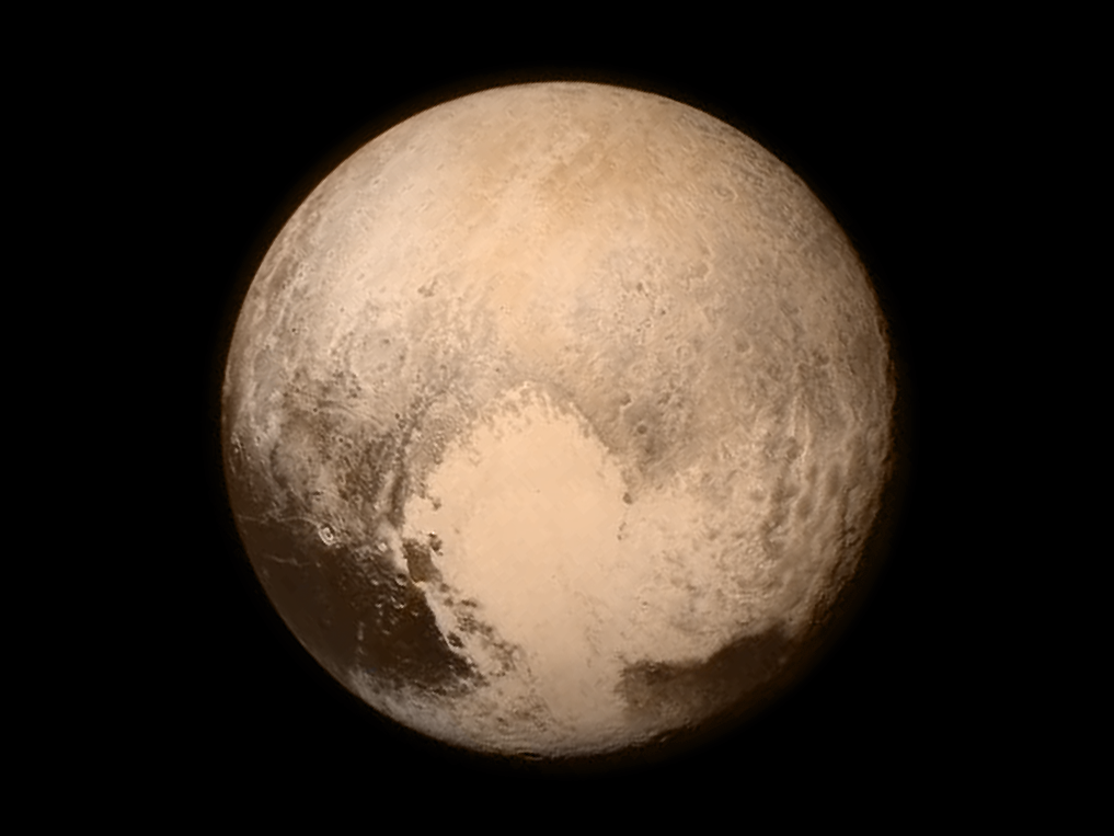 Pluto as seen from NASA's New Horizons spacecraft.