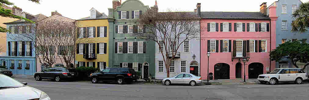 Rainbow Row in Charleston, S.C.