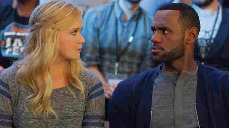 LeBron James (playing himself) asks Amy about her intentions in Trainwreck.