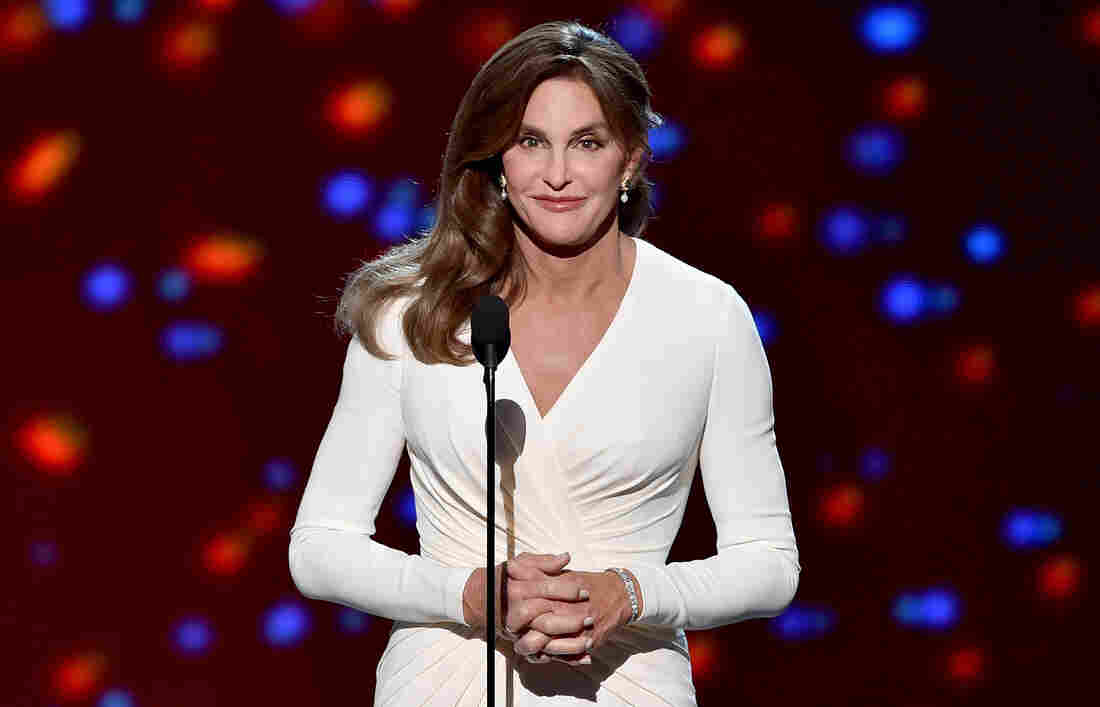 Caitlyn Jenner accepts the Arthur Ashe Courage Award onstage during the 2015 ESPYs at Microsoft Theater on Wednesday in Los Angeles.