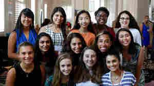 "Here's the group of ""teen advisers"" who spoke with Goats and Soda at the 2015 Girl Up conference in Washington, D.C. Top row: Amy Gong Liu, Janet Diaz, Janet Ho, Kennede Reese, Rebecca Ruvalcaba. Middle row: Ruhy Patel, Celia Buckman, Simone Cowan, Jessica Bishai. Bottom row: Sydney Baumgardt, Alexandra Intriago, Anna McGuire, Ishana Nigam"