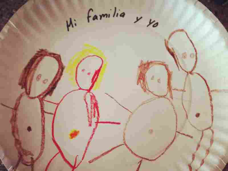 A family portrait by the author's daughter, Selma.