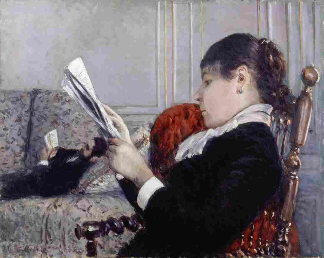 Gustave Caillebotte plays with perspective in his 1880 work Interior, A Woman Reading.