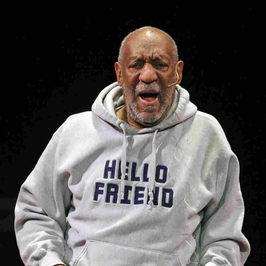 Comedian Bill Cosby performs at the Buell Theater in Denver, in January. Cosby, 77, is facing sexual assault accusations from more than two women, with some of the claims dating back decades.