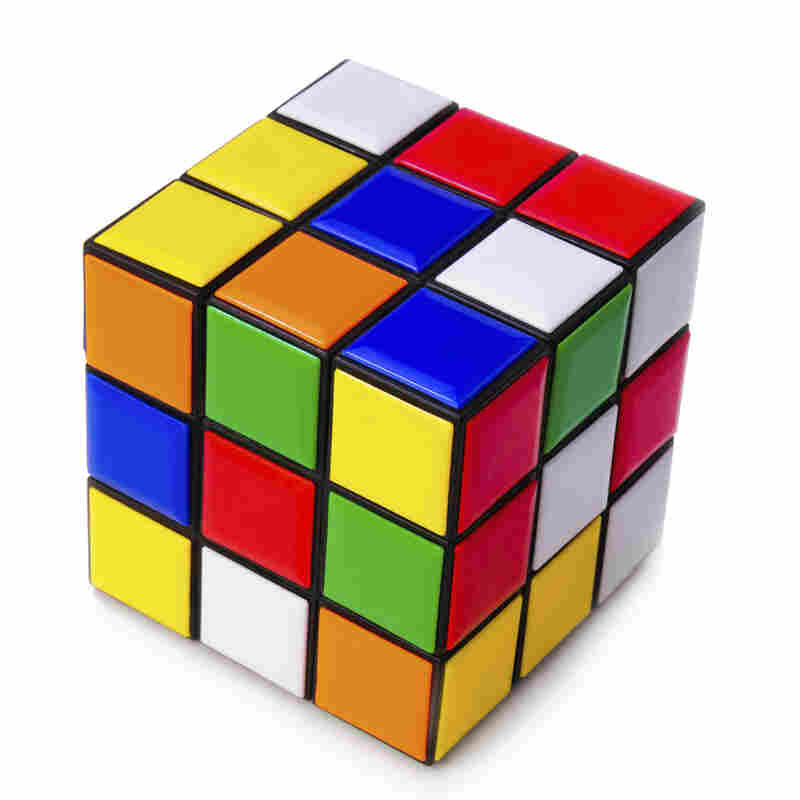 The Rubik's Cube, the boxy beast to be tamed by our intrepid competitors.