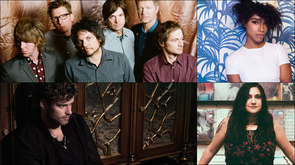 Clockwise from upper left: Wilco, Lianne La Havas, Palehound, Night Beds