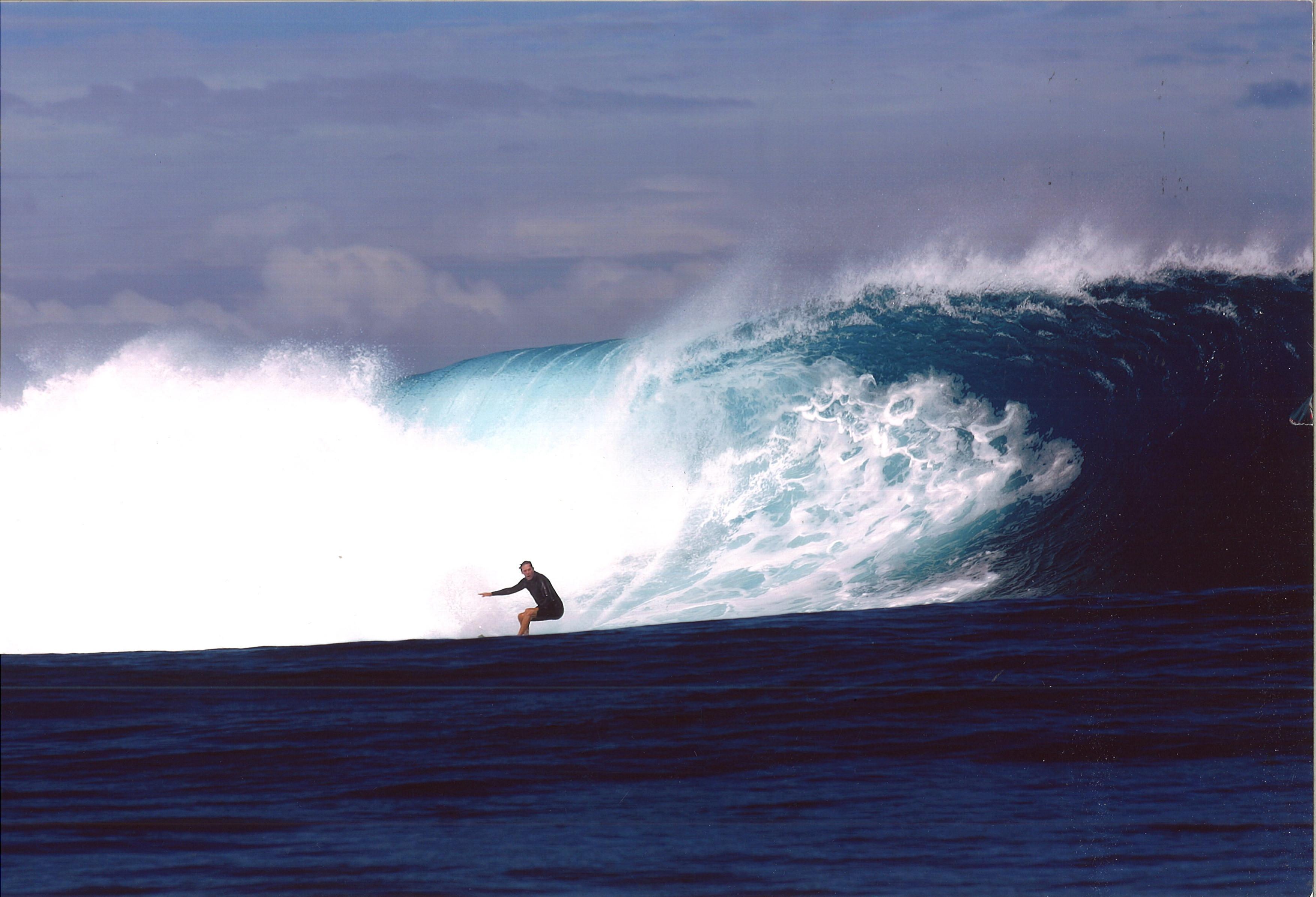 William Finnegan surfs Cloudbreak, off the island of Tavarua in Fiji, in 2005.