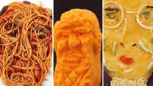 Donald Trump On A Circus Peanut, And More Food Art With A Political Bite