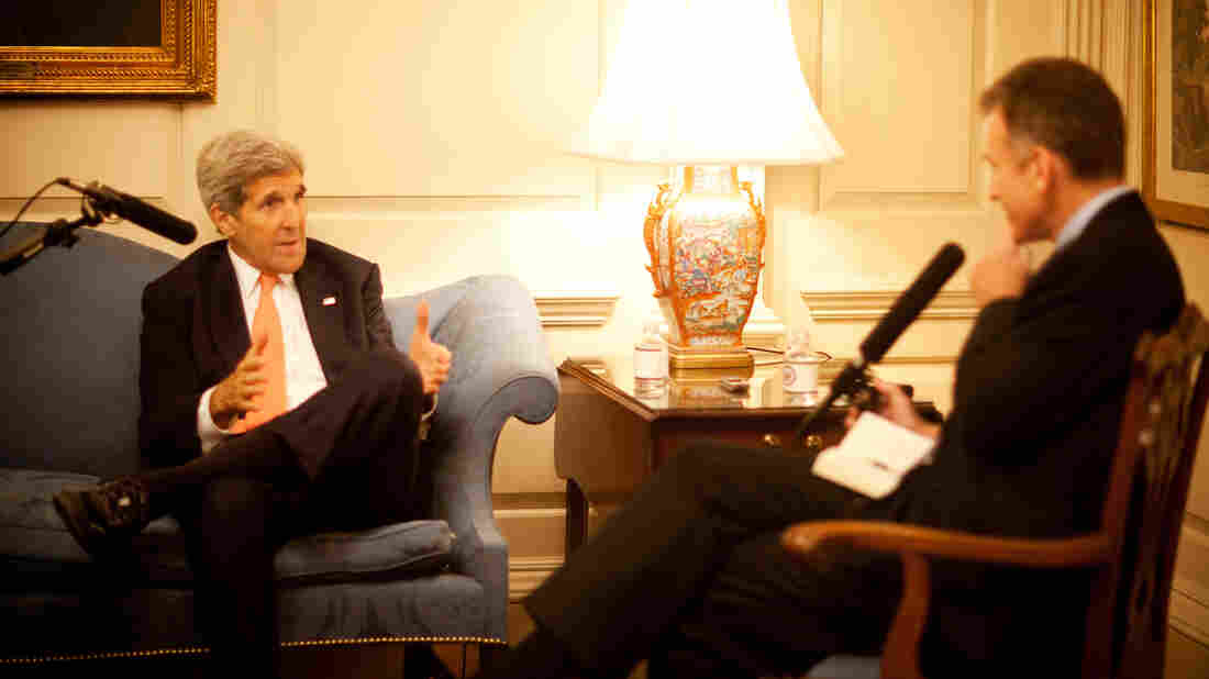 Sec. State John Kerry spoke with NPR's Steve Inskeep at the State Department.