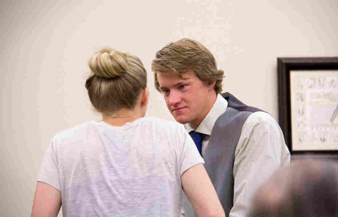 Zachary Klundt and his sister in court.