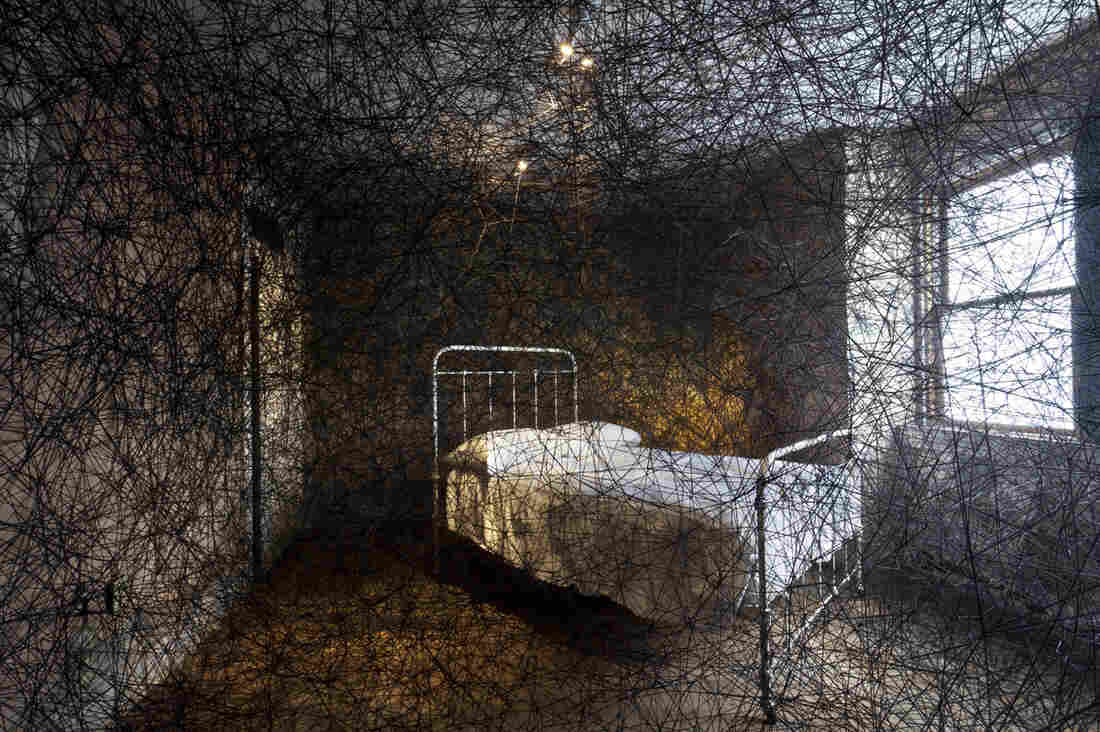 Chiharu Shiota takes over an entire townhouse for her 2013 work Trace of Memory. It's one of the many unusual installations at The Mattress Factory in Pittsburgh.