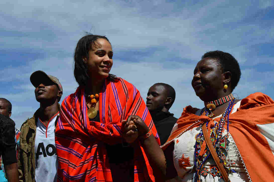 """British actress Zawe Ashton and Agnes Pareyio, who underwent female genital mutilation as a girl in Kenya, are two of the activists featured in """"Stop Cutting Our Girls,"""" a documentary opposing the practice."""