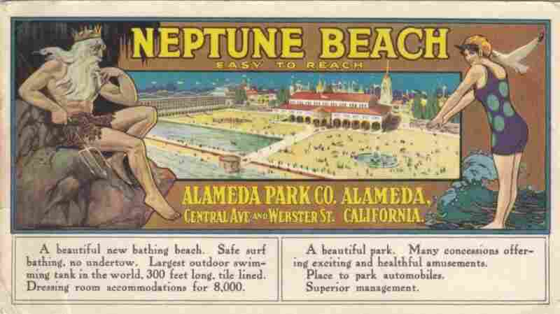 """A 1917 ad for Alameda's Neptune Beach, where Epperson sold his frozen """"Epsicle"""" treats in the early 1920s."""