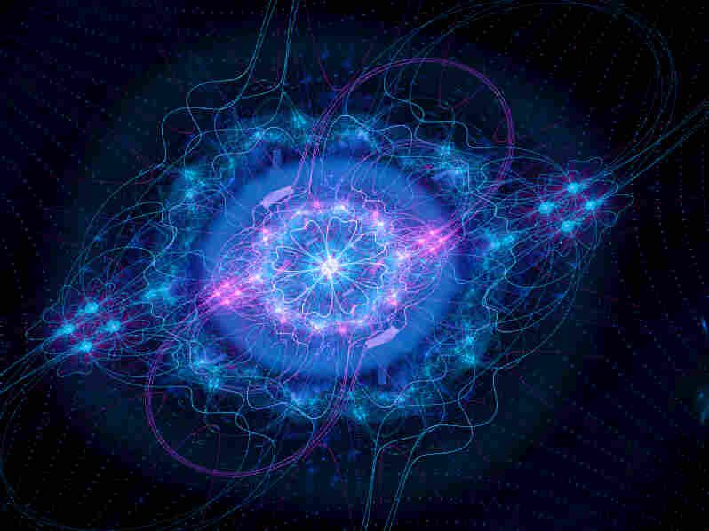 Computer generated image of the Higgs boson.