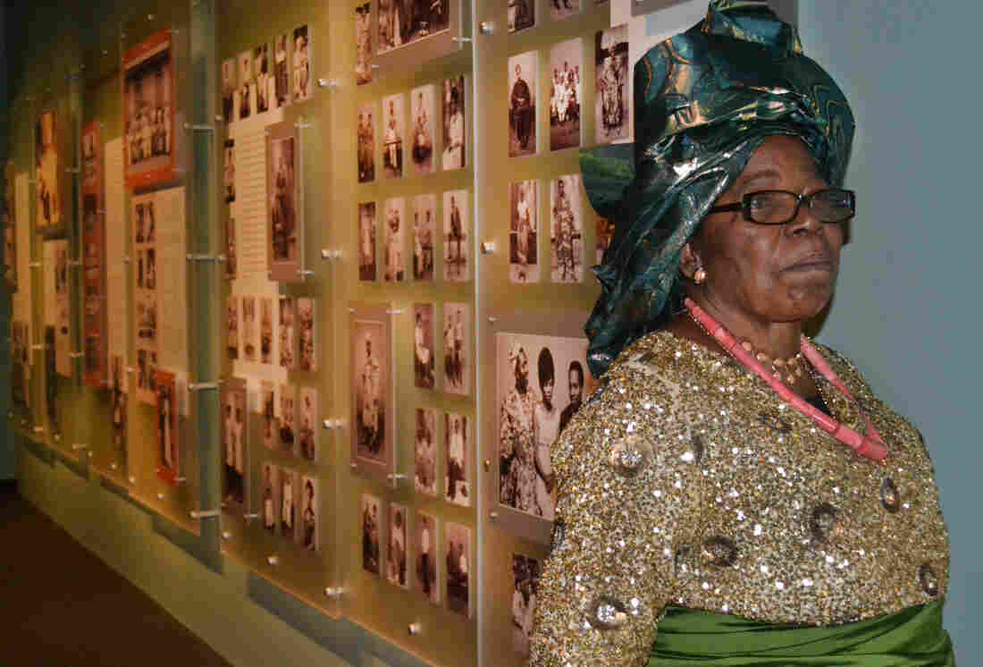 Stella Osarhiere Gbinigie, 80, visited the Smithsonian's National Museum of African Art in Washington, D.C., this week.